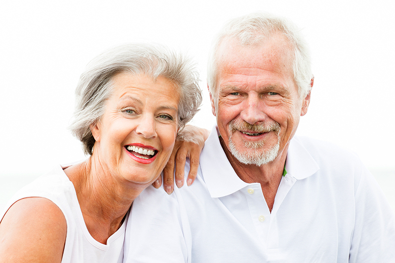 happy smiling couple with great teeth