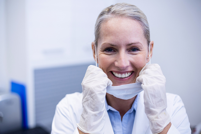 Smiling Dental Hygienist